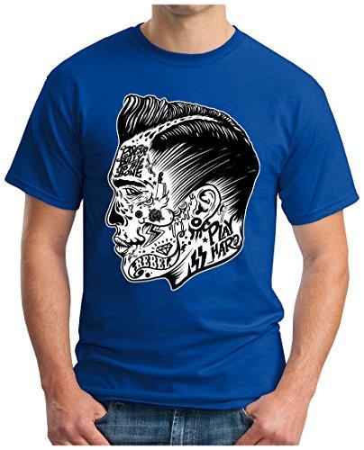 OM3 - PSYCHO-BILLY - T-Shirt, S - 5XL Royalblau