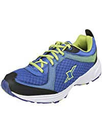 9b55c8a10413 Sparx Men s SM0213 Series Royal Blue Fluorescent Green Synthetic and Nylon  Mesh Sports Shoes 6UK