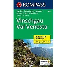 Vinschgau - Val Venosta: Wanderkarten-Set in der Schutzhülle mit Radrouten. GPS-genau. 1:25000 (KOMPASS-Wanderkarten, Band 670)