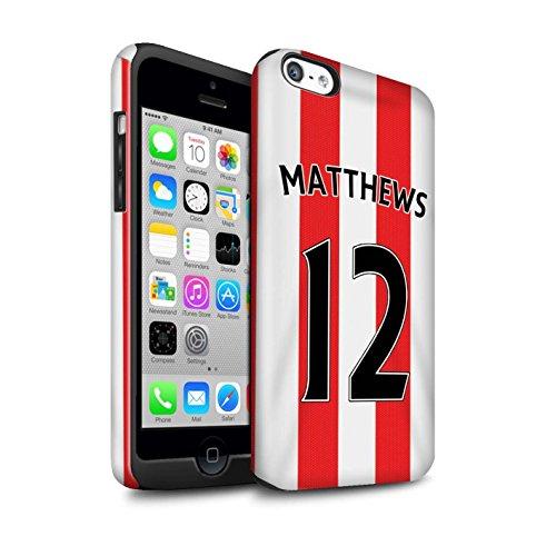 Offiziell Sunderland AFC Hülle / Glanz Harten Stoßfest Case für Apple iPhone 5C / Watmore Muster / SAFC Trikot Home 15/16 Kollektion Matthews