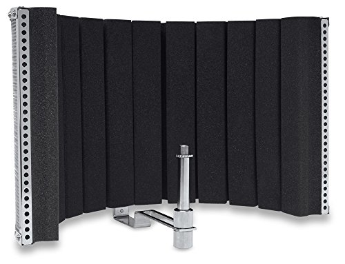 Pronomic MP-60 Micscreen, Mikrofon Schirm (portabler Absorber und Diffusor, ideal für Studio oder Podcast, verhindert unerwünschte Schallreflektionen oder Echos, universal passend) chrom (D Hinzufügen Oder)