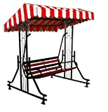 Kaushalendra Garden Zula Swing Outdoor Swing Terrace Iron Patio Stand Hammock