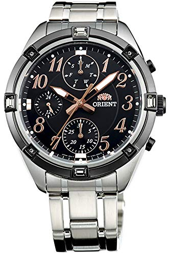Orient Womens Analogue Quartz Watch with Stainless Steel Strap FUY04003B0