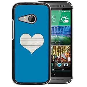 Planetar® ( Heart Love Notebook White ) HTC ONE MINI 2 / M8 MINI Handyhülle Schale Hart Silikon Hülle Schutzhülle Case