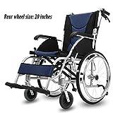 Leichte Selbstfahrer Transport Rollstühle Luxus Transport Rollstühle Aluminiumlegierung helles faltbares Vollreifen Old Scooter Medizintechnik Arme und Heben Beine ausruhen Stuhl kann Bär 200kg leicht -