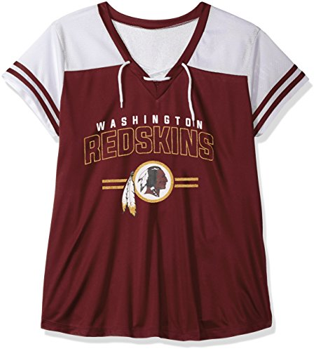 NFL TEAM APPAREL Damen hern8fpam Falken Fleece an, Notch Hood-red-3 X, Damen, HERN8FPAM, Garnet/White -