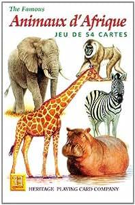 Animaux d'Afrique. 54 Cartes