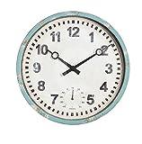 """Gardman Uhr """"Bootshaus"""", blau, 31x25x31 cm, 17220 -"""