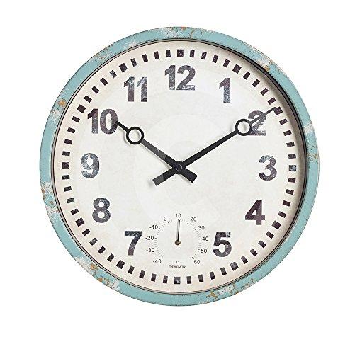 """Gardman Uhr \""""Bootshaus\"""", blau, 31x25x31 cm, 17220"""