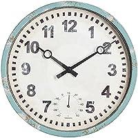 """Gardman Uhr """"Bootshaus"""", blau, 31x25x31 cm, 17220"""