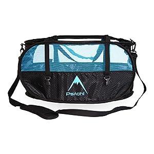 Bolsa para cuerdas de escalada Psychi con tirantes para su transporte y correas de ajuste