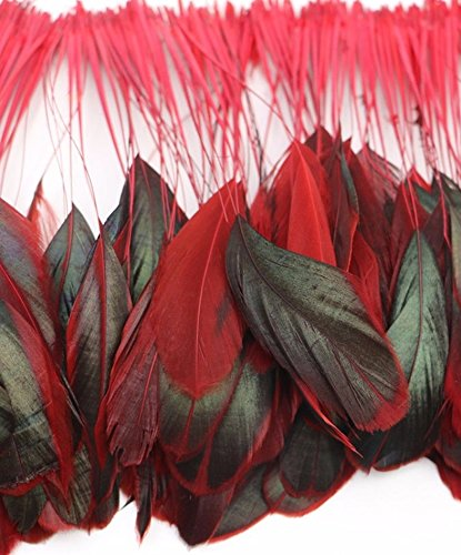 6-red-natural-stripped-coque-feathers-fascinators-weddings-6-inches-approx-by-gc