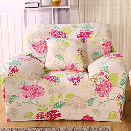 SHFOLSFH 1/2/3/4 Seater Flexible Printing Sofa Cover Elastic Stretch Couch Cover Love-Seat Sofa Cover Home Decoration Cushion Pillow Case A5817 1 seat 90-140cm (Sofa Love Seat Cover Rot)
