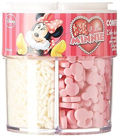 Minnie Pot Décoration Vermicelles en Sucre Minnie sans Gluten 88 g