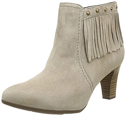 Be Natural Women's 25324 Cowboy Boots, Beige (Taupe 341), 6.5 UK
