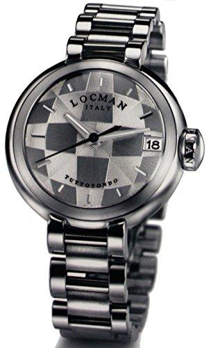 Locman TuttoTondo / orologio donna / quadrante guillochè grigio / cassa e bracciale acciaio