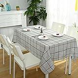 BiuTeFang Mantel Moderno minimalista Algodón Mantel Casa Rejilla Mueble TV Mantel de Paño de Polvo