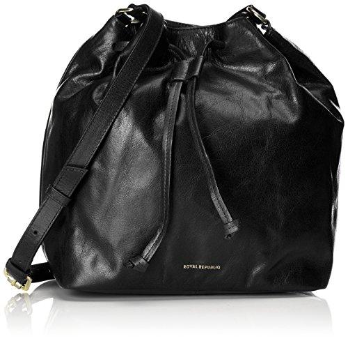 Royal RepubliQ Damen Bucket Handbag Schultertasche, 14x28x25 cm Schwarz (Black)