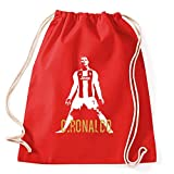 Art T-shirt, Zaino Sacca Cristiano Ronaldo CR7 Juventus Campioni, Rosso