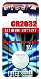 Maxell CR2032 Batteria al Litio, 3V, Argento, 1 pezzo