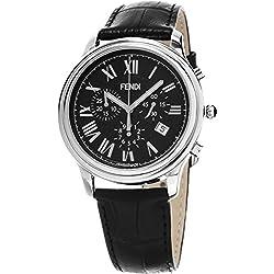 Fendi hombre f253011011Classico negro reloj de cuarzo analógica Swiss
