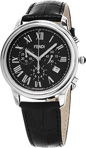 Fendi Men's F253011011 Classico Analog Display Swiss Quartz Black Watch