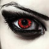 Designlenses Rosse Vampiro Lenti a Contatto Colorate Rosso, morbide, Non corrette Modello: Vampire