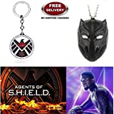 (2 Pcs AVENGER SET) - AGENTS OF S.H.I.E.L.D KEYCHAIN & BLACK PANTHER IMPORTED PENDANT. LADY HAWK DESIGNER SERIES 2018. ❤ ALSO CHECK FOR LATEST ARRIVALS - NOW ON SALE IN AMAZON - RINGS - KEYCHAINS - NECKLACE - BRACELET & T SHIRT - CAPTAIN AM