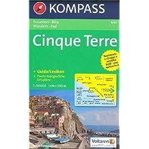 Cinque Terre (Ligurie, Italie) 1:50.000 Carte de randonnée, laminé KOMPASS
