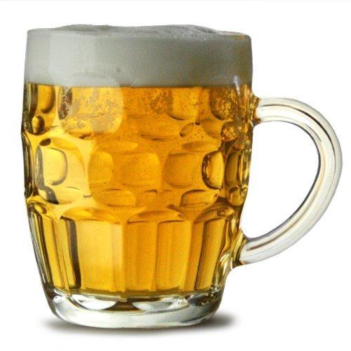 Arcoroc - Jarra de cerveza tradicional (4 unidades), con certificación CE