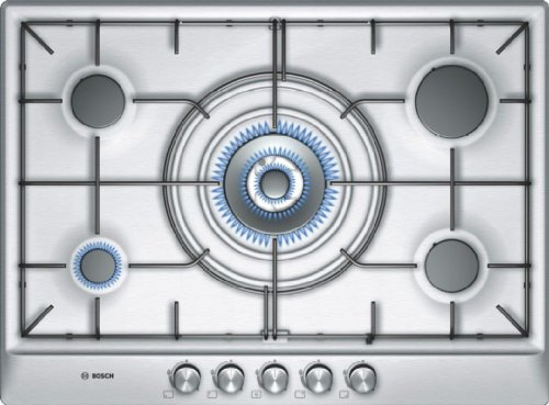 Bosch PCQ715B80E built-in Combi Silver hob - Hobs (Built-in, Combi, Silver, 1 W, 54 mm, 582 mm)
