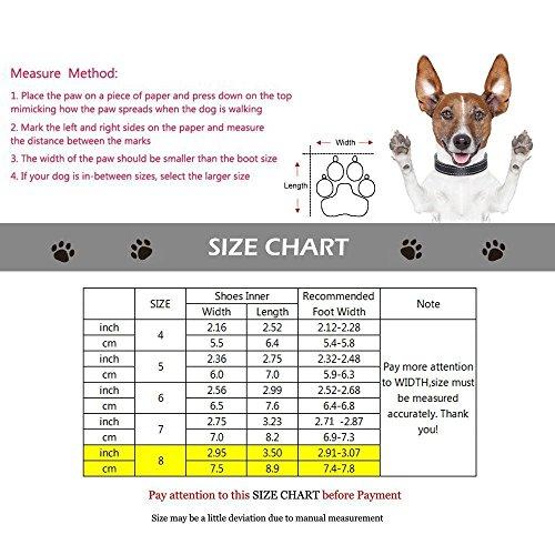 4-6 Scarpe per Cani Protezione Zampa Stivali per Cani Impermeabili Harmless Antiscivolo Traspirante con Velcro riflettente Alta Qualit/à 4 Pezzi