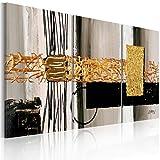 murando handgemalte Bilder 120x60cm Gemälde 3 tlg gold beige schwarz 92318