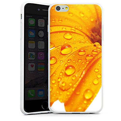 Apple iPhone X Silikon Hülle Case Schutzhülle Blume Tropfen Orange Silikon Case weiß