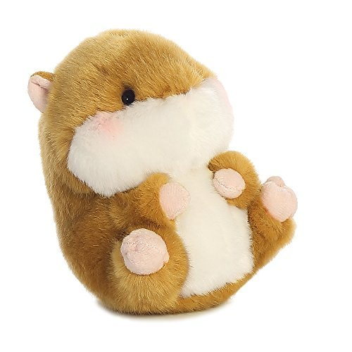 Aurora World Frolic Hamster Rolly Pets Plush Toy (Brown/White/Pink) by Aurora