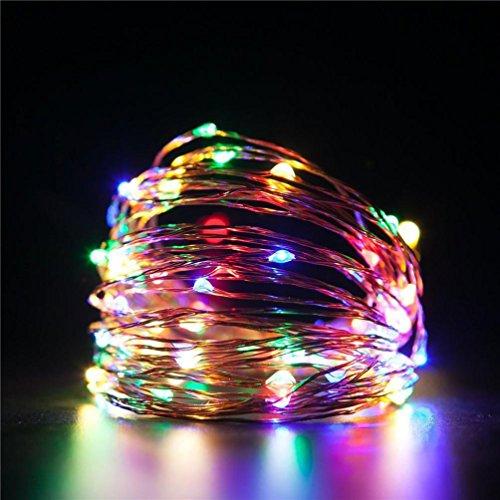 TAOtTAO Led String Lichter Dekorative Schlafzimmer Terrasse Gartentor Hof Parteien Hochzeit (Mehrfarbig) - Regen Mehrfarbige Teppiche