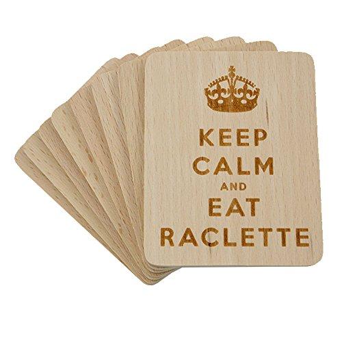 8 Stück Raclette Untersetzer mit Lasergravur