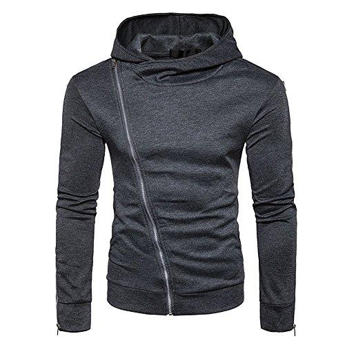 Mantel Herrem Winter feiXIANG Reißverschluss Hoodies Outwear Sweatshirt Langarm Winterjacke...