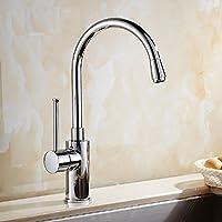 JYHJ Tutto il rame rubinetto del lavello della cucina europea può essere ruotato bacino delle verdure gomito