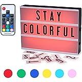 Caja de Luz,CrazyFire Cambio de Color Lightbox A4, Cinematic Led Box con 104 Letras(7 Colores)