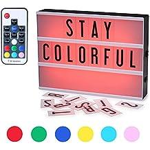 CrazyFire Caja de Luz, Cambio de Color Lightbox A4, Cinematic Led Box con 104