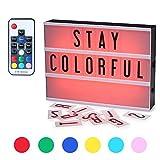 CrazyFire Caja de Luz, Cambio de Color Lightbox A4, Cinematic Led Box con 104 Letras(7 Colores)