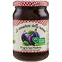 Le Conserve della Nonna Confettura di Prugna Tipo Modena Ottenuta da Frutta Fresca e con Zucchero di Canna - 340 gr - [confezione da 4]