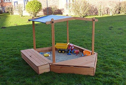 Promadino Sandkasten Multi + Bug-/Sitzbox + Sonnendach