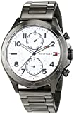 Tommy Hilfiger Herren Analog Quarz Uhr mit Edelstahl beschichtet Armband 1791341