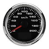 Nan zheng Boot Motorteile 200 km/std DC9-32V 85mm GPS Tachometer Geschwindigkeit Meter Gauge Wasserdicht for Auto Auto Motor ATV Boot Motor Ersatzteil-Kits