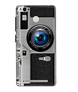 Make My Print Camera Printed Grey Hard Back Cover For Xiaomi Redmi 3S