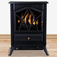 Marko Heating Electric Fireplace 1850W Fire Wood Flame Heater Stove Living Room Log Burner