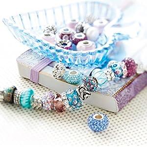Bead Charm Element Stern – Mehr Angebote an Tiere Set Schwarz Weiß Blau grün Rosa/Charms Kompatibel Armband Silber Beads Bettelarmband Charms Motiv – by AKKi