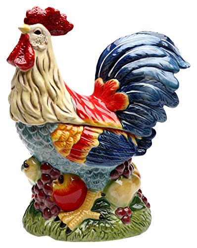 StealStreet ss-cg-31979 467,4 cm hoch bemalt stehend Rooster auf Fruit Küche Cookie Jar Fruit Cookie Jar